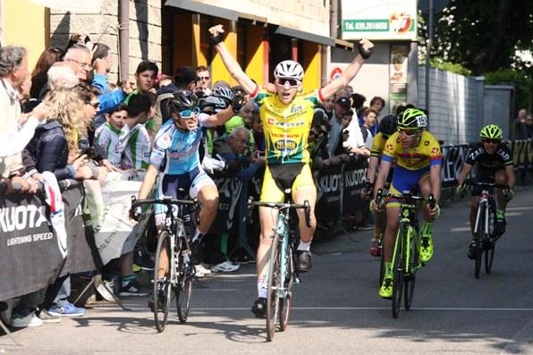 Michael Cattani su Emanuele Giuseppe Milone a Sovico (Foto Soncini)