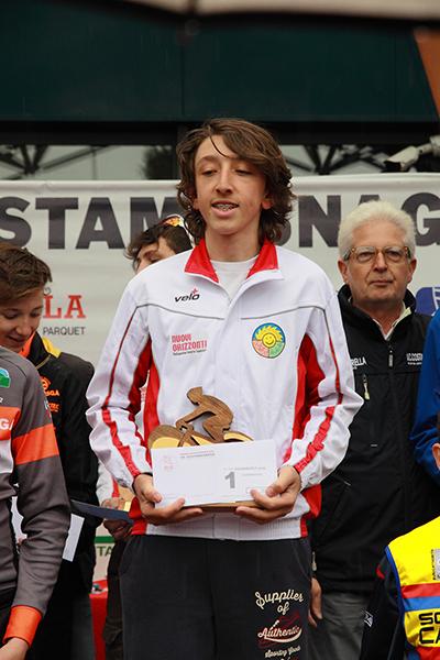 Premiazione del vincitore Edoardo Alleva (Foto Kia)