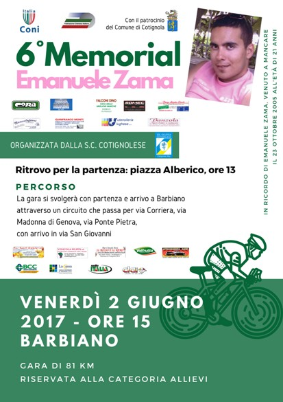02.06.2017 - ALLIEVI - 6^ MEMORIAL  EMANUELE ZAMA