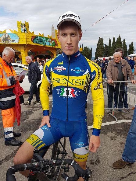Mirco Sartori, vincitore della gara di Castiglion Fiorentino