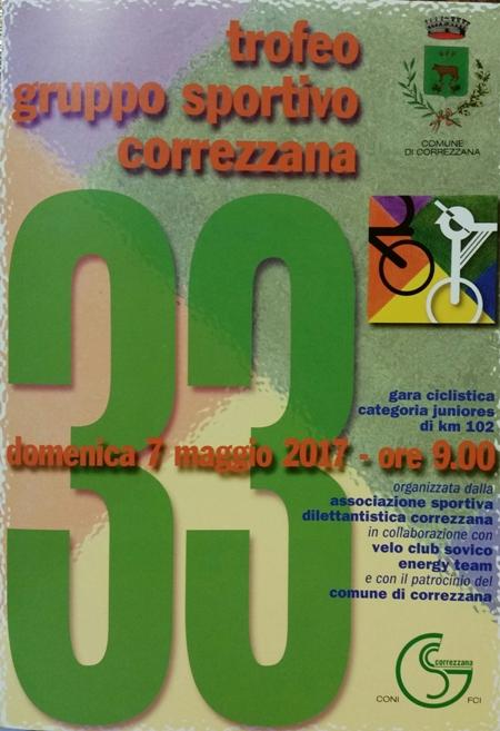 07.05.2017 - LOCANDINA 33^ TROFEO GS CORREZZANA