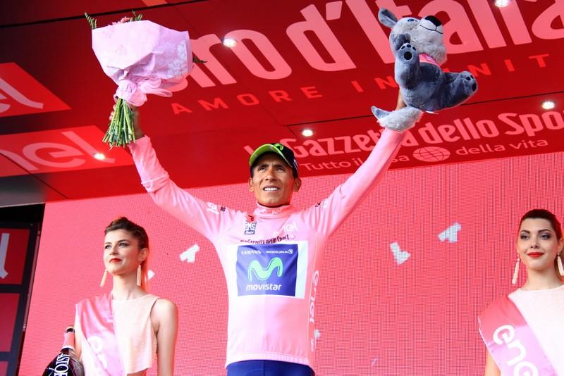 Quintana in maglia rosa (JC Faucher)