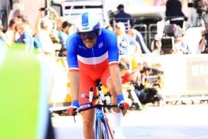 Il Campione di Francia a cronometro Thibaut Pinot (Foto Jean Claude Faucher)