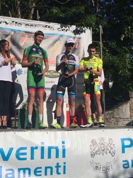 Da sx, Vlasov, Covi e Branchini, podio 67^ Coppa Cicogna