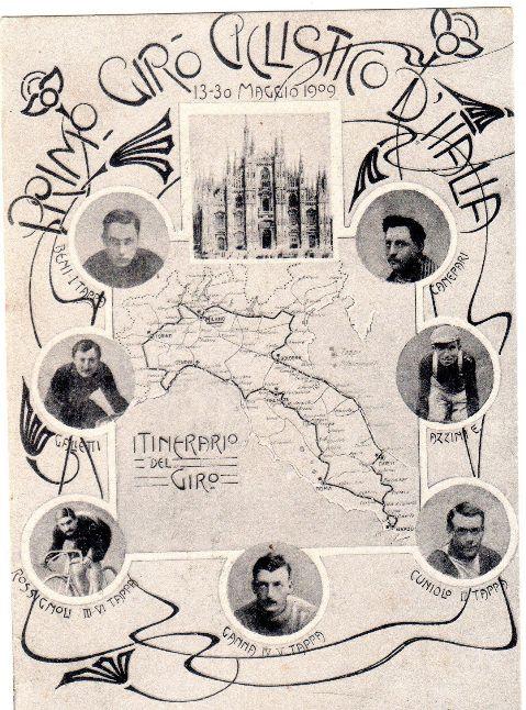 CARTOLINA DEL PRIMO GIRO D'ITALIA NRL 1909