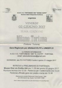 20.03.2017 - LOCANDINA 71^ MILANO-TORTONA