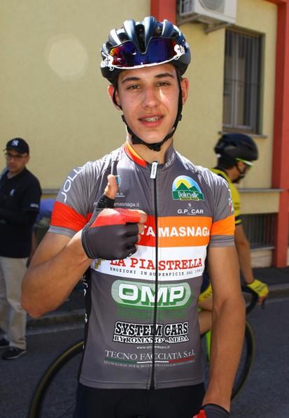 Matteo Giubilo, neo campione provinciale allievi di Lecco qui in maglia della sua società (Foto Berry)