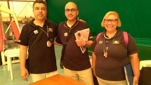 Da sinistra, Tirricello, Leone e Radaelli, Giuria FCI a Rescalda di Rescaldina (Foto Berry)