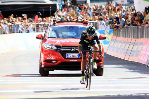 Nairo Quintana all'arrivo (Foto JC Faucher)