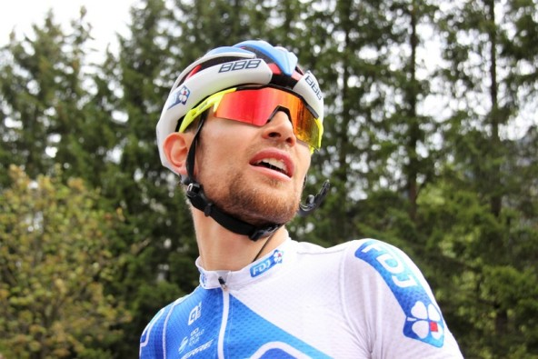 Thibaut Pinot all'arrivo (Foto di JC Faucher)