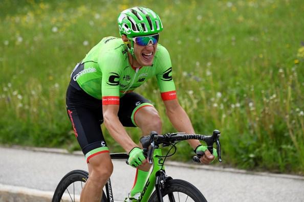 Pierre Rolande verso la vittoria di Canazei (Foto La Presse)