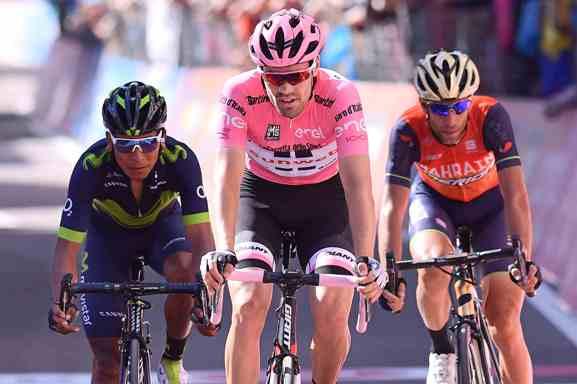 Dumoulin, Quintana e Nibali, i primi 3 della classifica generale (La Presse)
