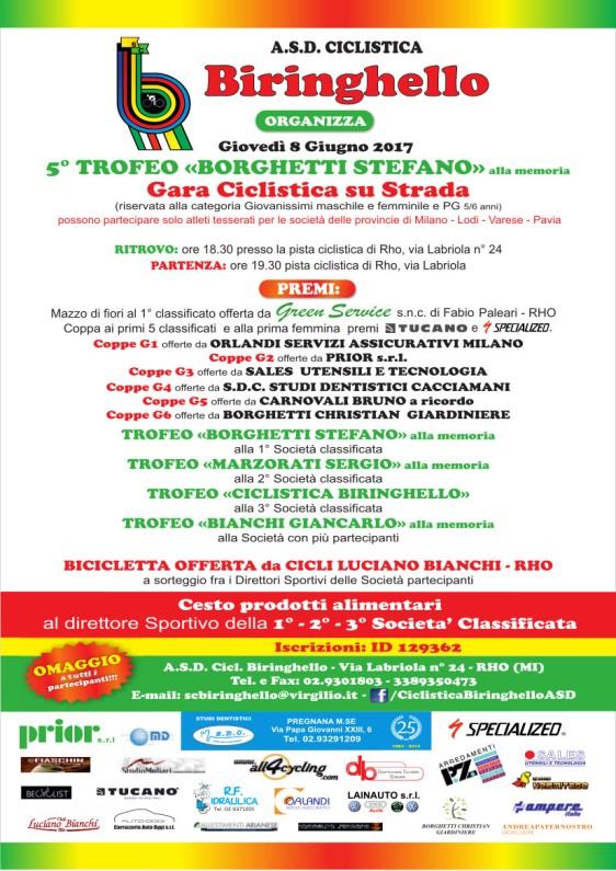 26.05.17 - 5^ Trofeo Borghetti Stefano