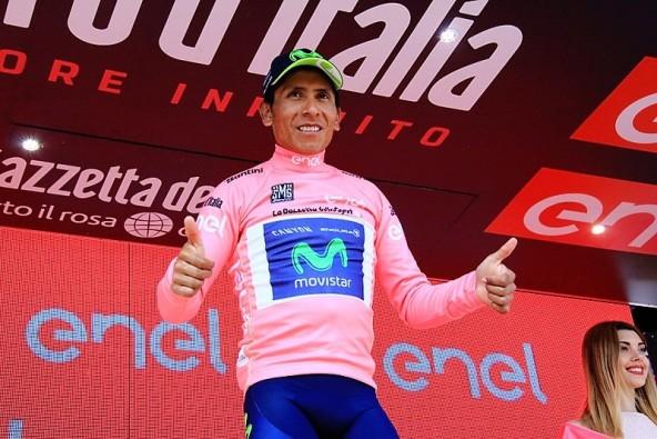Quintana nuova maglia rosa (Foto JC Faucher)
