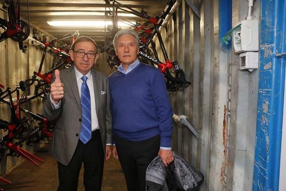 Ernesto Colnago e Giuseppe Saronni (Foto Pisoni)
