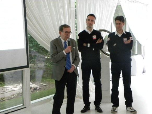 Colnago con Carlo Saronni e Andrea Appiani (Pisoni)