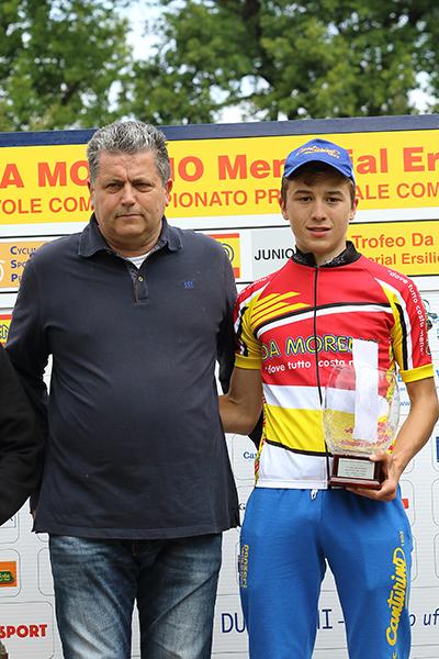 Bagioli premiato da Aldegheri Claudio (Foto Kia)