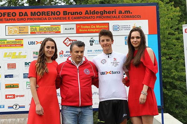 La maglia bianca e il presidente del CP-FCI Varese, Rossetti (Foto Kia)