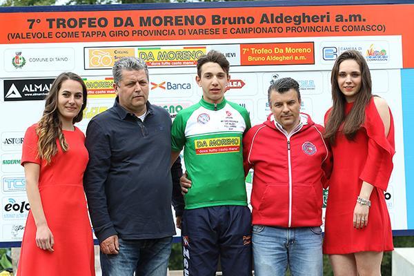 Maglia Verde GPM con Aldegheri e Rossetti (Foto Kia)