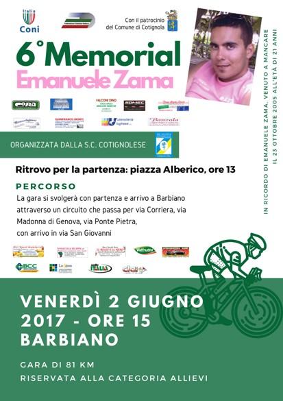 02.06.2017 - ALLIEVI - 6^ MEMORIAL  EMANUELE ZAMA