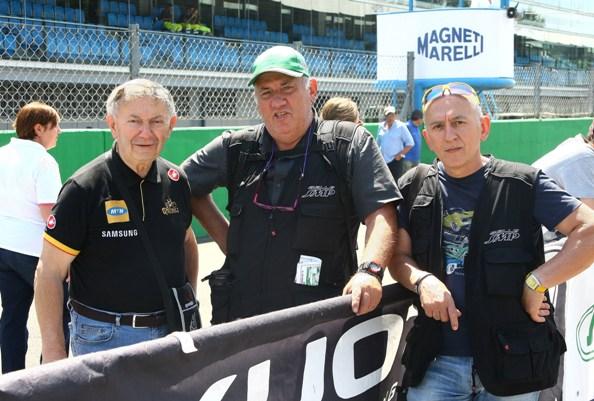 Da sx, Bernardi, Castelli e Belingheri a Monza (Foto Berry)