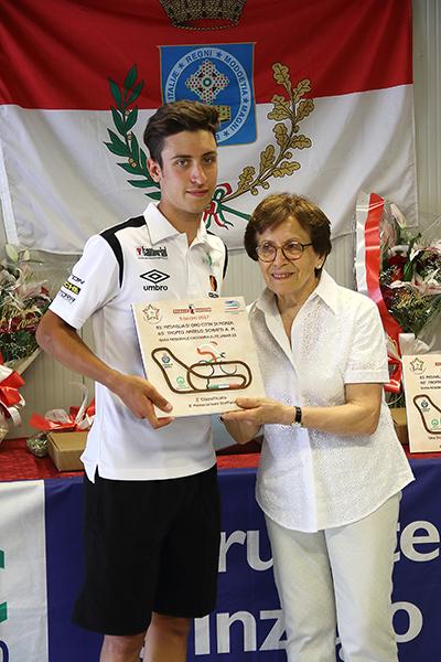 Premiazione Bresciani 2^ classificato (Foto Kia)