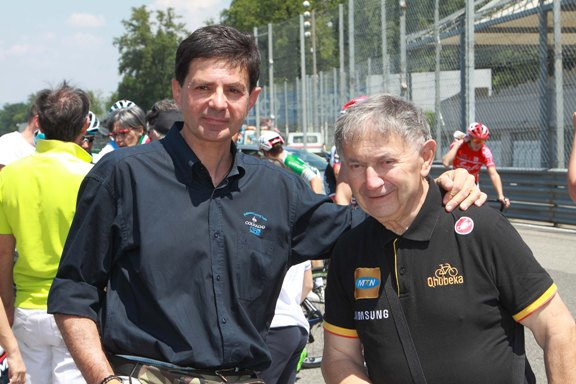 Bernardi col Collega Danilo Vigano^ all'Autodromo Nazionale di Monza 03.06.2017 (Foto di Kia)