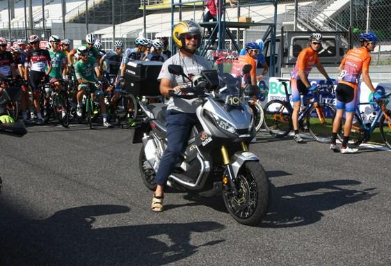 Il Motociclista Vito Mulazzani (Foto Berry)