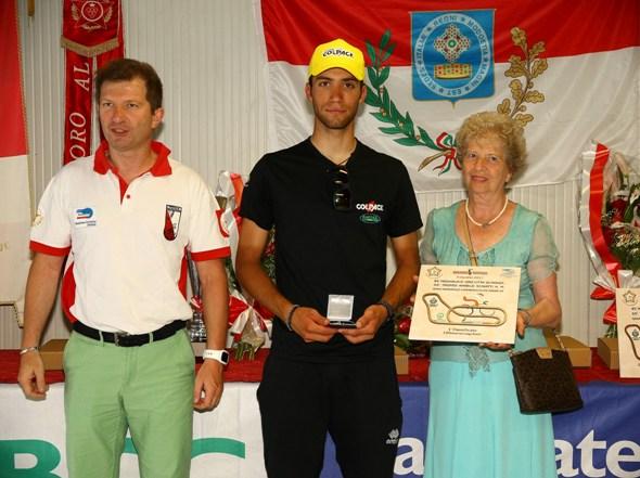 Premiazione Nicolas Dalla Valle vincitore 85^ Medaglia d'Oro Citta^ di Monza (Foto Berry)