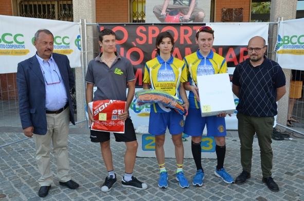 Cav. Otello Zama e il podio del 6^ Memorial Emanuele Zama