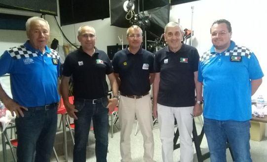 Bertani, Spinoni e Salvoldi con Direttori di Corsa (Foto Berry)