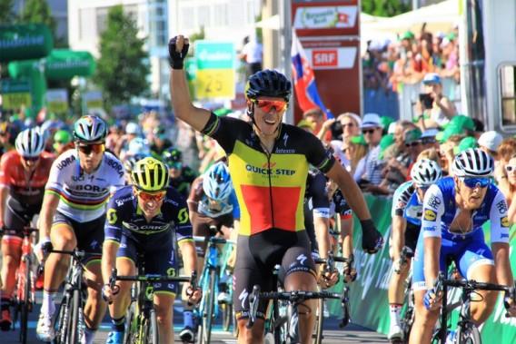 Philippe Gilbert, Tricolore del Belgio, vince in volata la 2^ tappa del TDS/2017 (Foto Jean Claude Faucher)