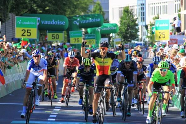 Philippe Gilbert vince a Cham (Foto di Jean Claude Faucher)
