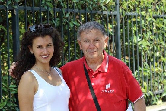Il giornalista Vito Bernardi e la miss della gara, Flavia Belingheri (Foto Kia)