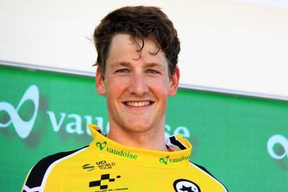 Stefen Kung, svizzero 24 anni della BMC è la nuova maglia gialla del TDS/2017 (Foto di Jean Claude Faucher)
