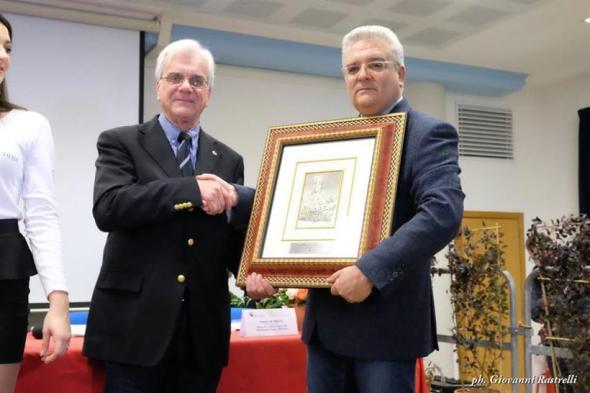 Bruno Ferrali a sinistra