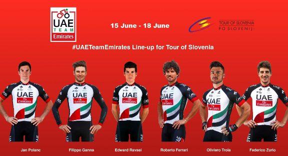15.06.2017 -  squadra UAE per Slovenja