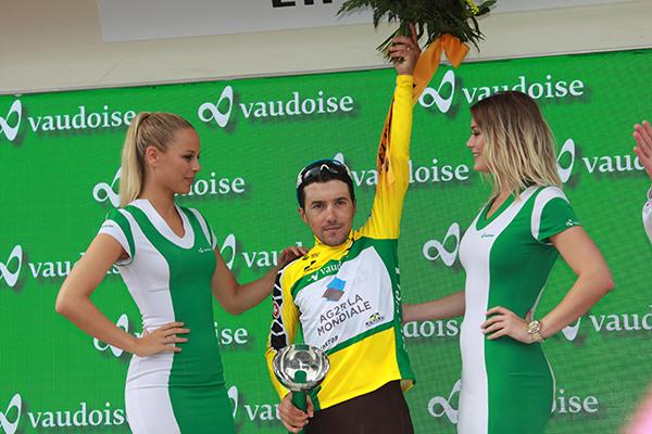 Domenico Pozzovivo orgoglioso del suo risultato (Foto Castelli Kia)