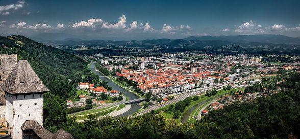 Scorcio di Celje, citta^ di partenza della 3^ tappa del Giro di Slovenja di domani 17 giugno 2017