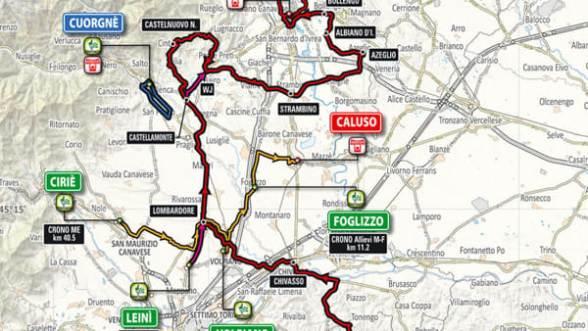 Planimetria del prossimo Campionato Italiano Professionisti su strada in Piemonte
