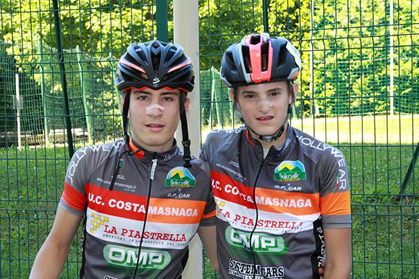 Botta, 2^ e Pioselli, 5^ entrambi dell'UC Costamasnaga - (Foto Kia)