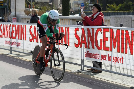 Foto LaPresse/Fabio Ferrari  14/03/2017 San Benedetto del Tronto (Italia)  Sport Ciclismo Gara Ciclistica Tirreno Adriatico 2017 - Settima tappa - San Benedetto del Tronto-San Benedetto del Tronto Cronometro individuale - km 10. Nella foto: Durante la gara. Photo LaPresse/Fabio Ferrari  March 14, 2017 San Benedetto del Tronto (Italy) Sport  Cycling Race Tirreno Adriatico 2017 -  step 7 - San Benedetto del Tronto-San Benedetto del Tronto - Individual Time Trial Km10 in the pic:during the race.