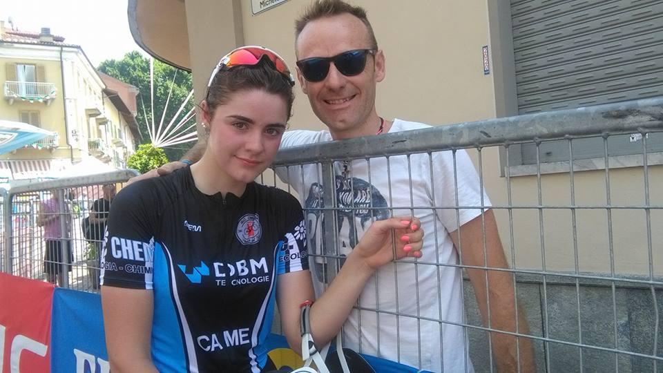 La Donna Junior Giulia Bruttomesso col padre Massimo (Foto Nastasi)
