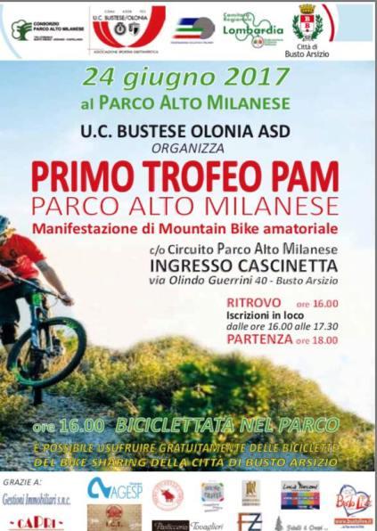 24.06.2017 - LOCANDINA 1^ tROFEO pam - PARCO ALTO MILANESE