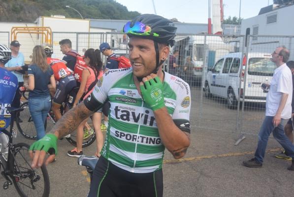 Rinaldo Nocentini, corre per un Team Portoghese, oggi brillantissimo 3^ al Tricolore di Ivrea (Foto Trovati)