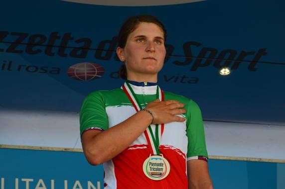 Elisa Longo Borghini neo Tricolore Donne Elite (Foto Mule)