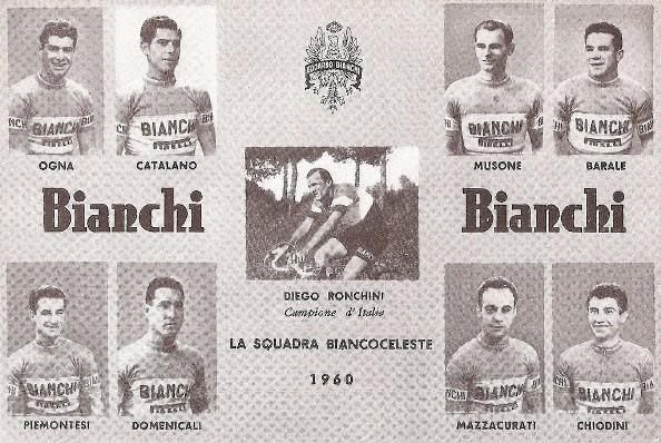 La Bianchi, squadra di Germano Barale nel 1961