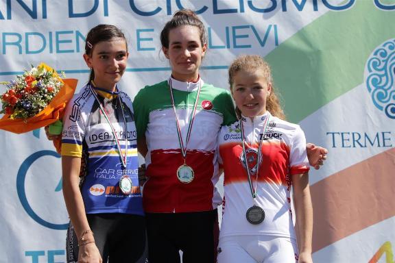 Francesca Barale in maglia Tricolore Donne Esordienti