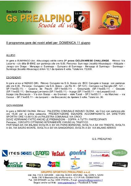 Comunicato per sponsor 11.06.17