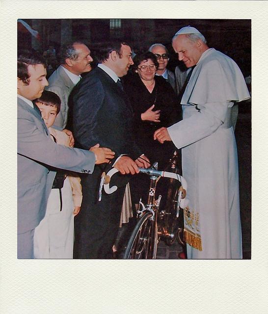 Famiglia Colnago da Papa Giovanni Paolo II
